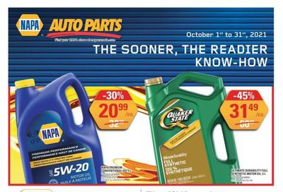 NAPA Auto Parts Flyer October 1 to 31