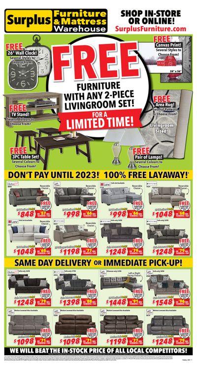 Surplus Furniture & Mattress Warehouse (Peterborough) Flyer October 4 to 24