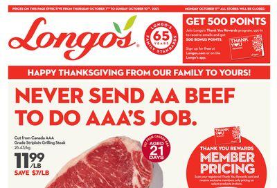 Longo's Flyer October 7 to 10