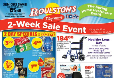 Roulston's Pharmacy Flyer March 13 to 26
