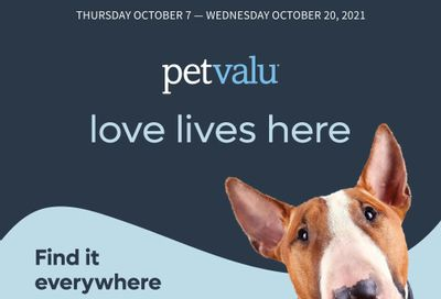 Pet Valu Flyer October 7 to 20