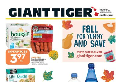 Giant Tiger (West) Flyer October 6 to 12