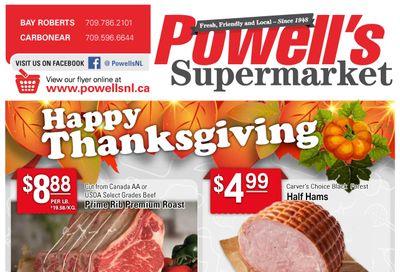 Powell's Supermarket Flyer October 7 to 13