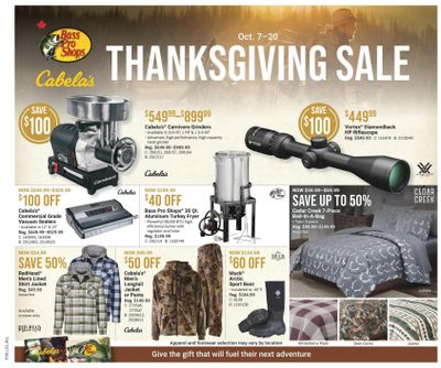 Bass Pro Shops Flyer October 7 to 20