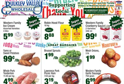 Bulkley Valley Wholesale Flyer October 7 to 13