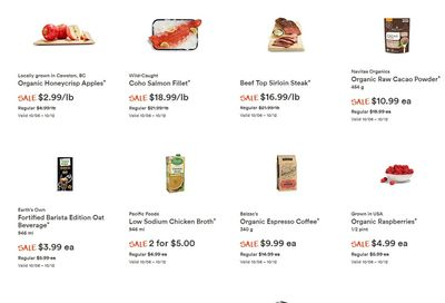 Whole Foods Market (West) Flyer October 6 to 12