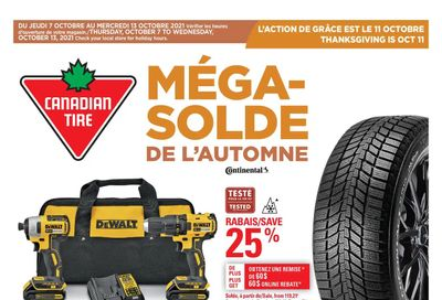Canadian Tire (QC) Flyer October 7 to 13