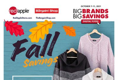 The Bargain Shop & Red Apple Stores Flyer October 7 to 11