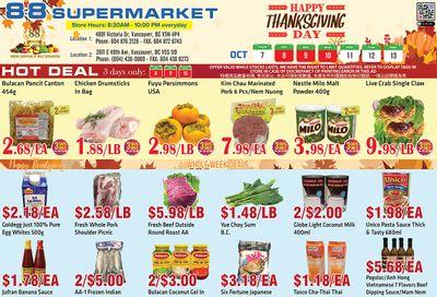 88 Supermarket Flyer October 7 to 13