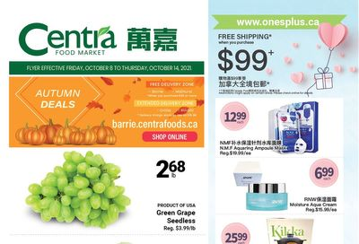 Centra Foods (Barrie) Flyer October 8 to 14
