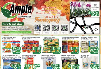 Ample Food Market (North York) Flyer October 8 to 14