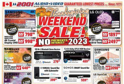 2001 Audio Video Flyer October 8 to 14
