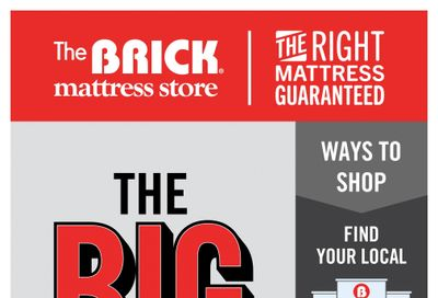 The Brick Mattress Store Flyer October 8 to 21