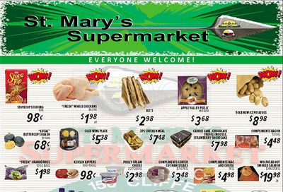 St. Mary's Supermarket Flyer October 6 to 12