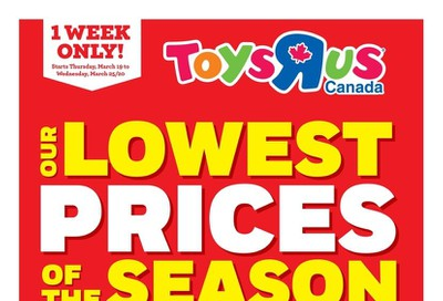 Toys R Us Flyer March 19 to 25