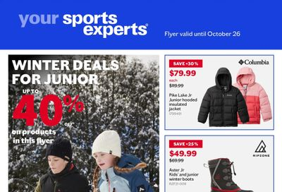 Sports Experts Flyer October 13 to 26