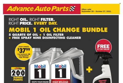 Advance Auto Parts Weekly Ad Flyer October 13 to October 20