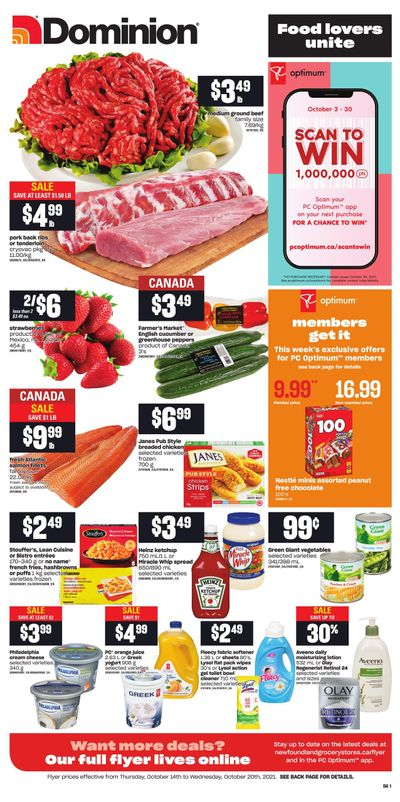 Dominion Flyer October 14 to 20