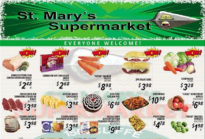 St. Mary's Supermarket Flyer October 13 to 19