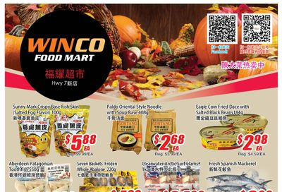 WinCo Food Mart (HWY 7) Flyer October 14 to 20