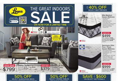 Leon's The Great Indoors Sale Flyer October 14 to 27