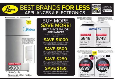 Leon's Best Brands for Less Flyer October 14 to 27