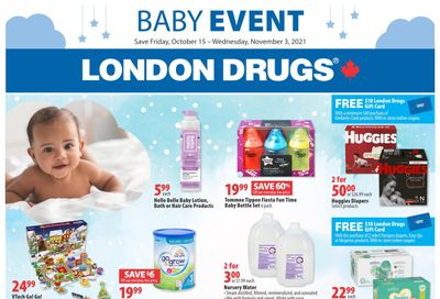 London Drugs Baby Event Flyer October 15 to November 3