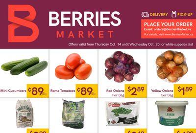 Berries Market Flyer October 14 to 20
