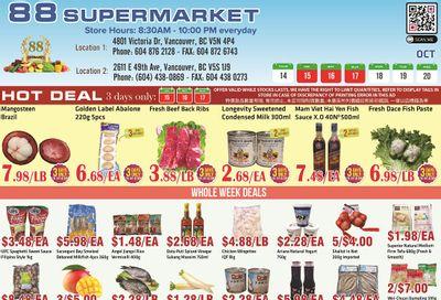 88 Supermarket Flyer October 14 to 20