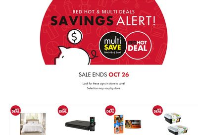 The Bargain Shop & Red Apple Stores Red Hot and Multi Deals October 14 to 26