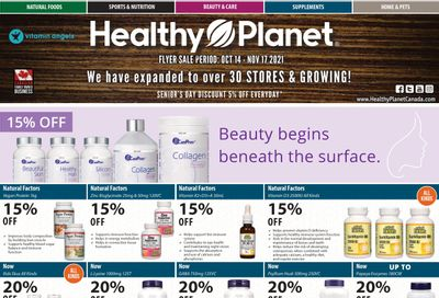 Healthy Planet Flyer October 14 to November 17