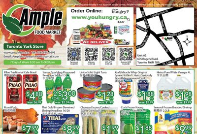 Ample Food Market (North York) Flyer October 15 to 21