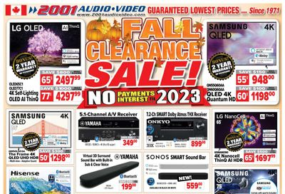 2001 Audio Video Flyer October 15 to 21