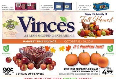 Vince's Market Flyer October 15 to 28