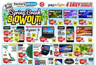 Factory Direct Flyer March 18 to 25
