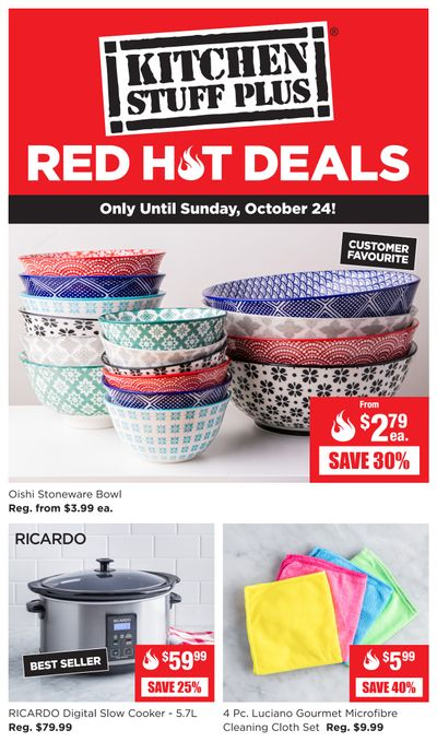Kitchen Stuff Plus Red Hot Deals Flyer October 18 to 24