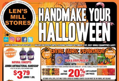 Len's Mill Stores Flyer October 18 to 31