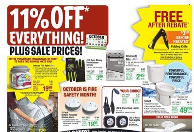 Menards Weekly Ad Flyer October 19 to October 26