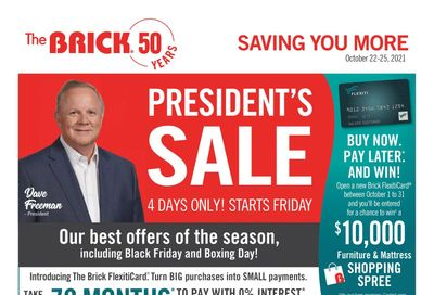 The Brick President's Sale Flyer October 22 to 25