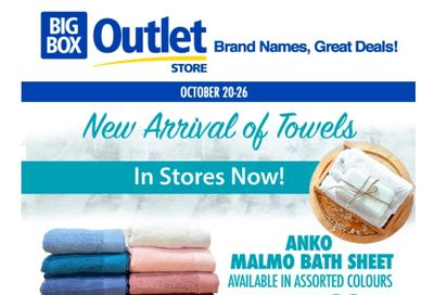 Big Box Outlet Store Flyer October 20 to 26