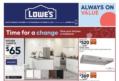 Lowe's Flyer October 21 to 27