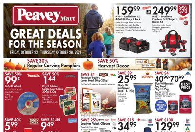 Peavey Mart Flyer October 22 to 28