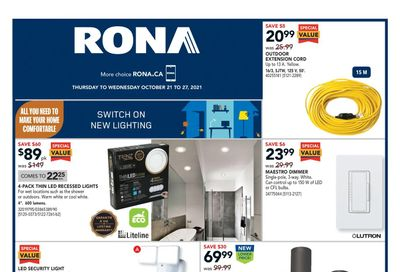 Rona (West) Flyer October 21 to 27