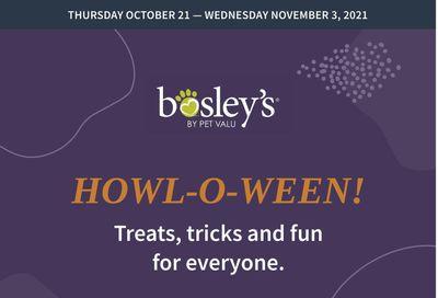 Bosley's by PetValu Flyer October 21 to November 3