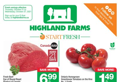 Highland Farms Flyer October 21 to 27