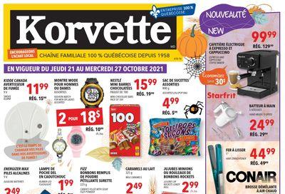 Korvette Flyer October 21 to 27