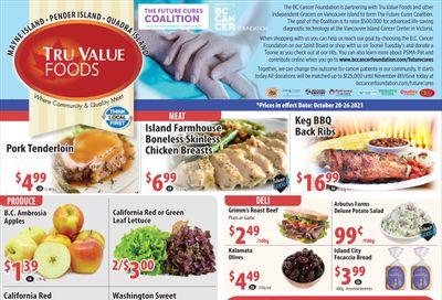 Tru Value Foods Flyer October 20 to 26