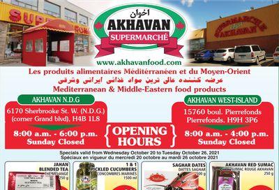 Akhavan Supermarche Flyer October 20 to 26