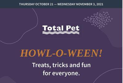 Total Pet Flyer October 21 to November 3