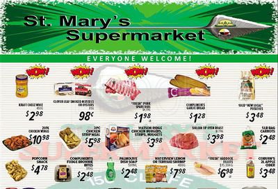 St. Mary's Supermarket Flyer October 20 to 26